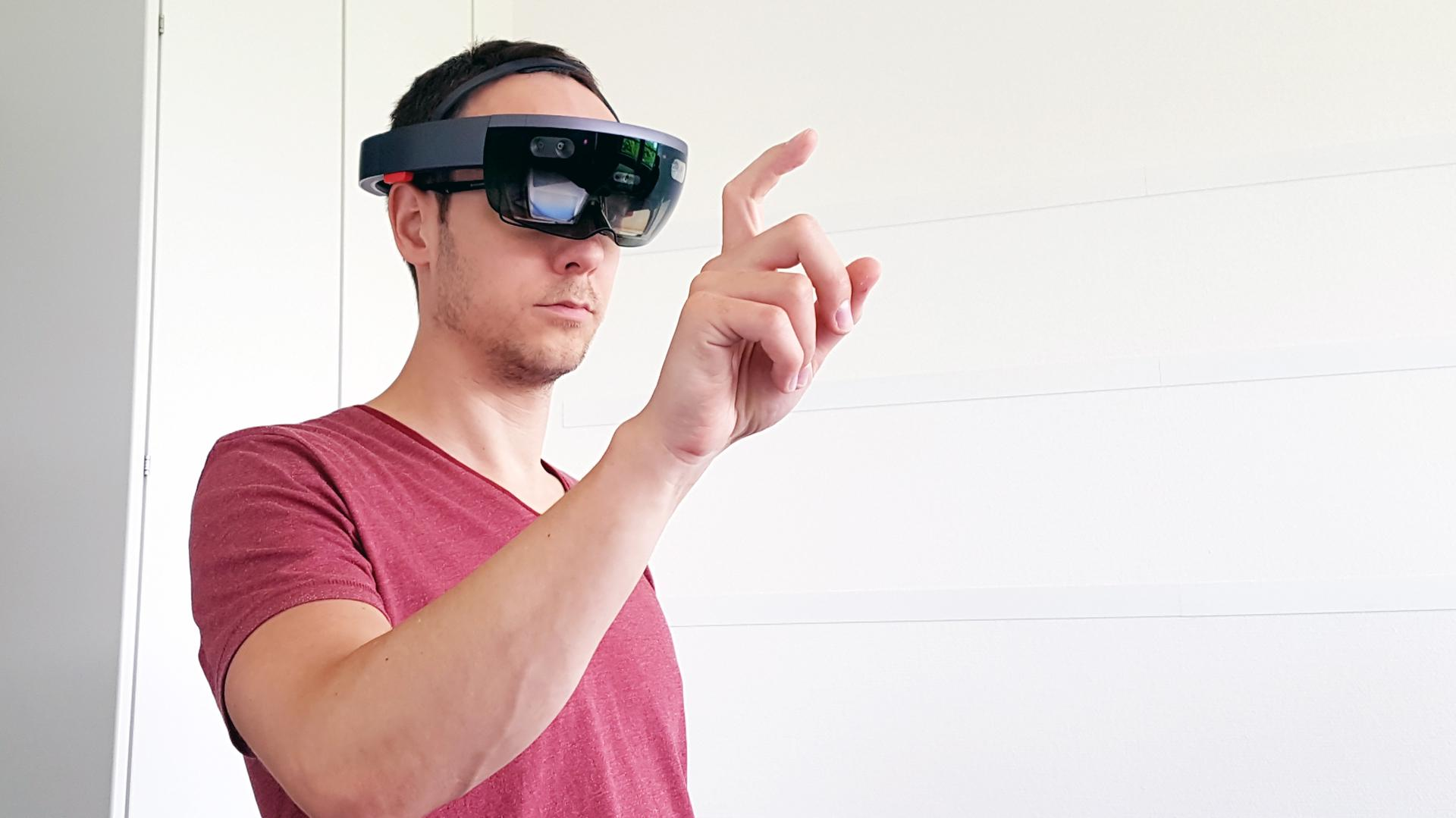 Mixed reality brille