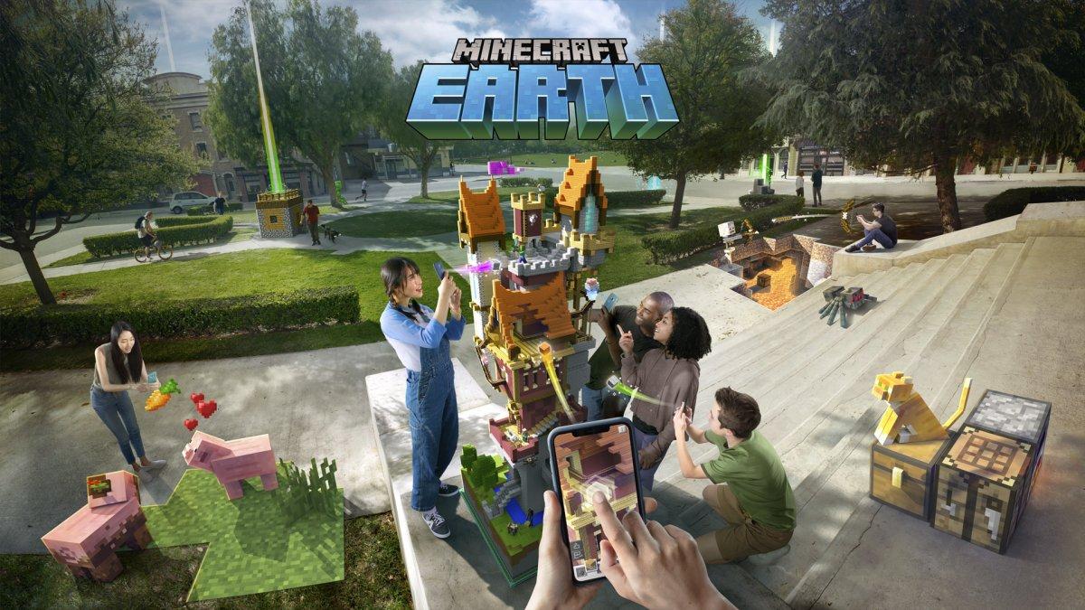 AR-Spiel Minecraft Earth angetestet: Wenn die echte Welt pixelig wird