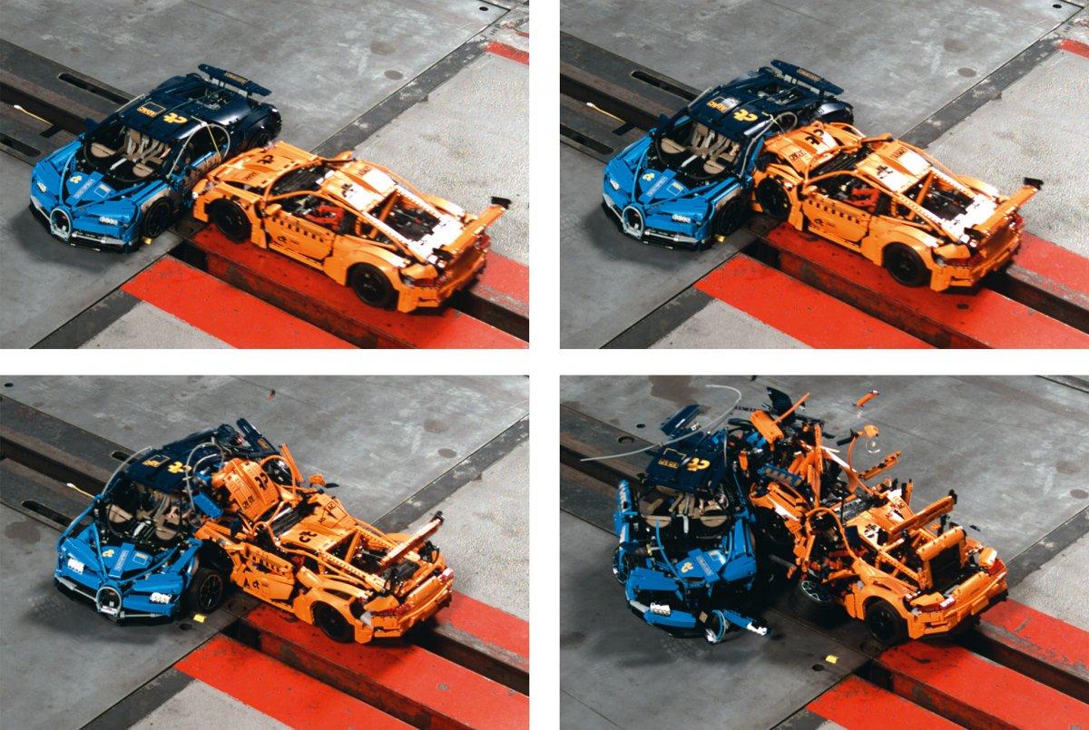 Der c't-Legocrash 2.0: ADAC-Prüfstand versus Crash-Simulation