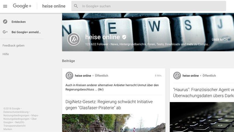 Soziale Netzwerke: Google stellt Google+ ein