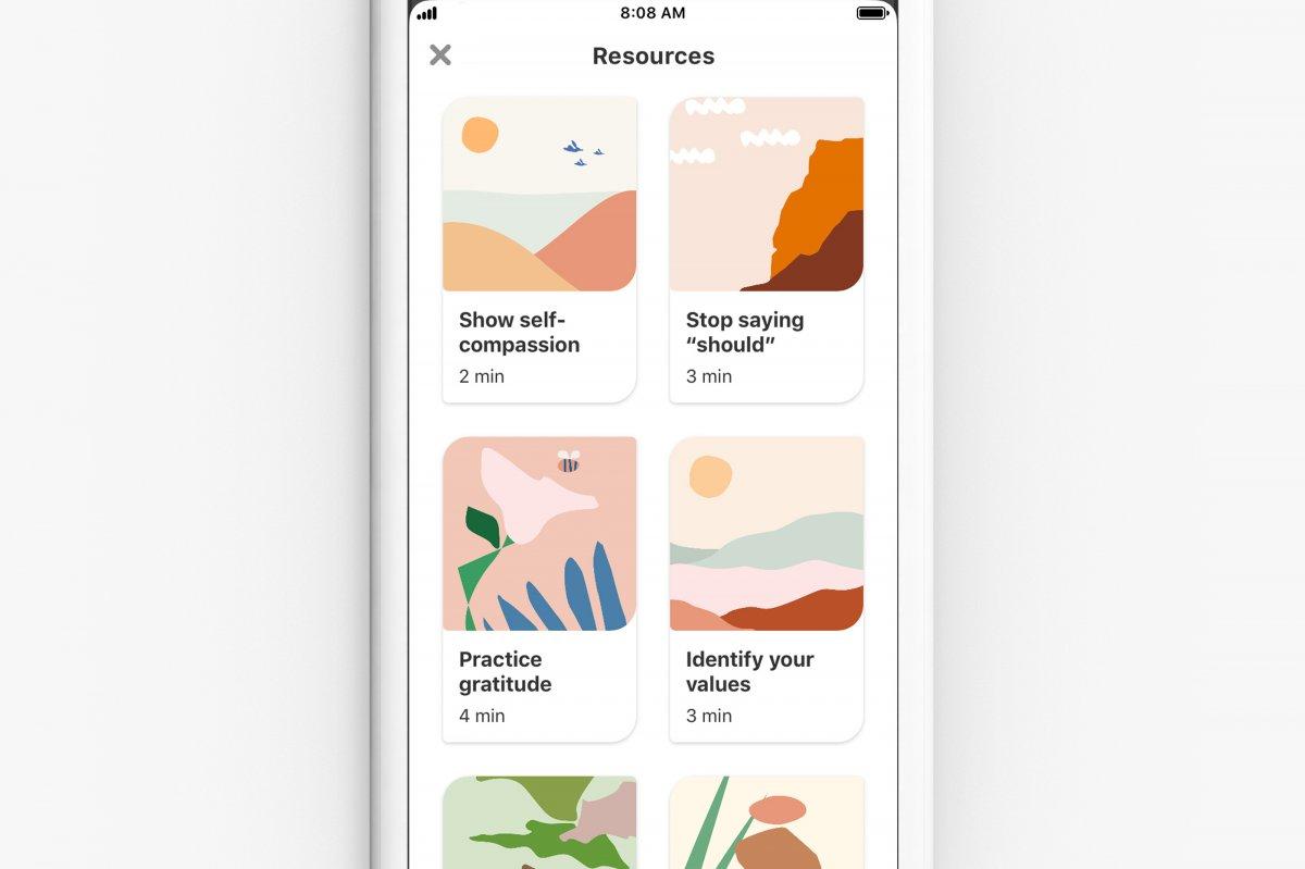 Pinterest will Nutzer mit Übungen entspannen