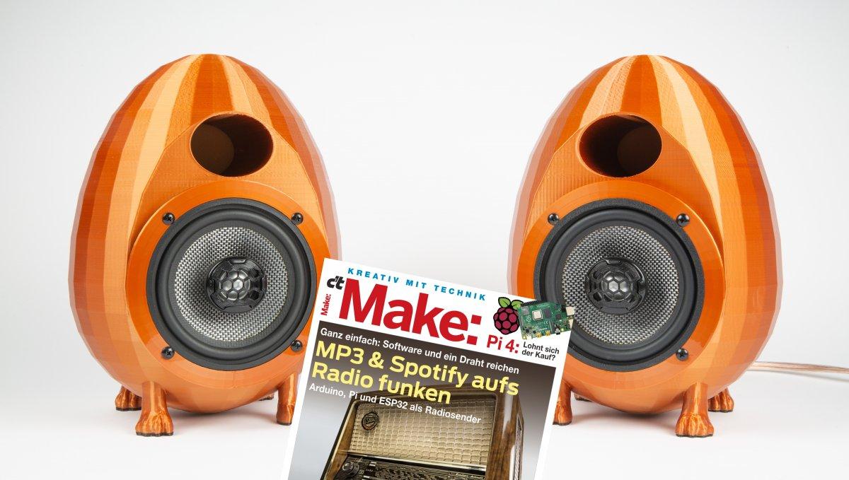 Aus dem 3D-Drucker: Lautsprecherboxen mit perfektem Klang