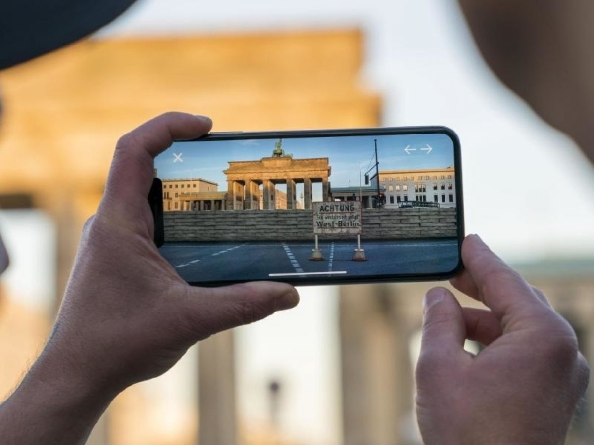 Berliner Mauer mittels Augmented-Reality-App erleben