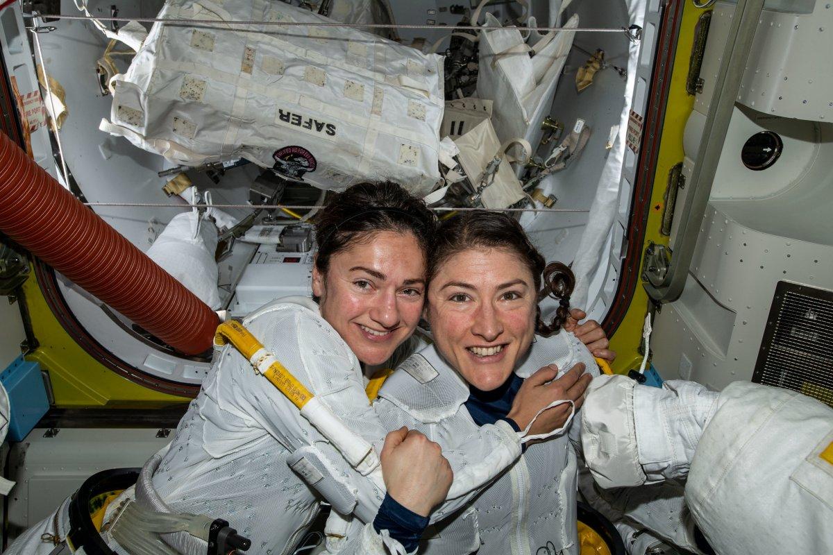 """Trump gratuliert Astronautinnen zu """"historischem"""" ISS-Außeneinsatz"""
