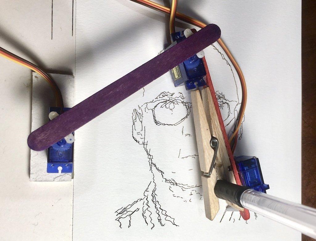 Günstiger Stiftplotter zum Nachbauen: Der BrachioGraph