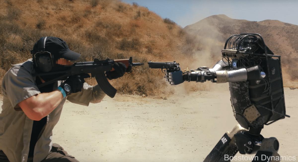 Militärroboter-Parodie: Wie Boston Dynamics, nur mit Gegenwehr