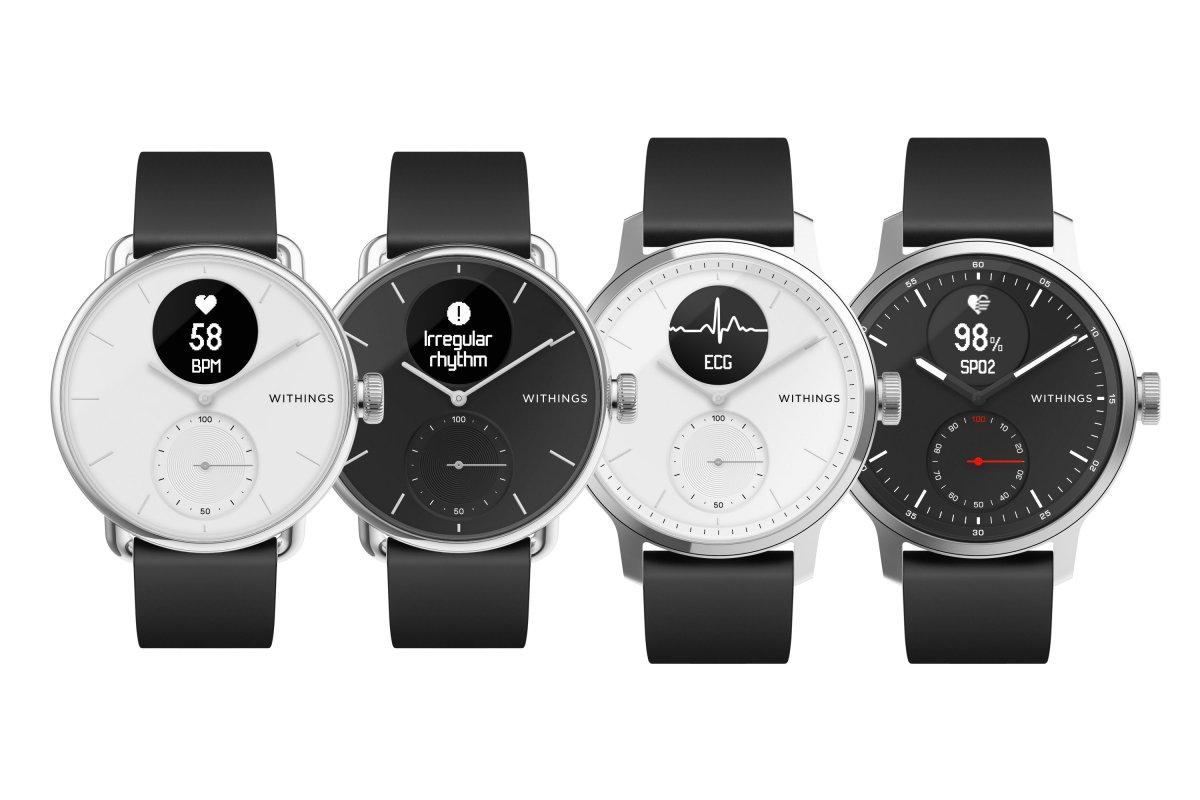 Withings neue Hybrid-Smartwatch erkennt Vorhofflimmern und Schlafapnoe