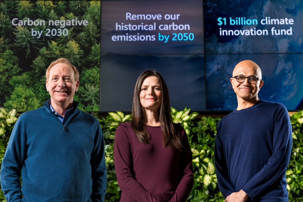"Microsofts Klima-Initiative: ""CO2-negativ bis 2030"""
