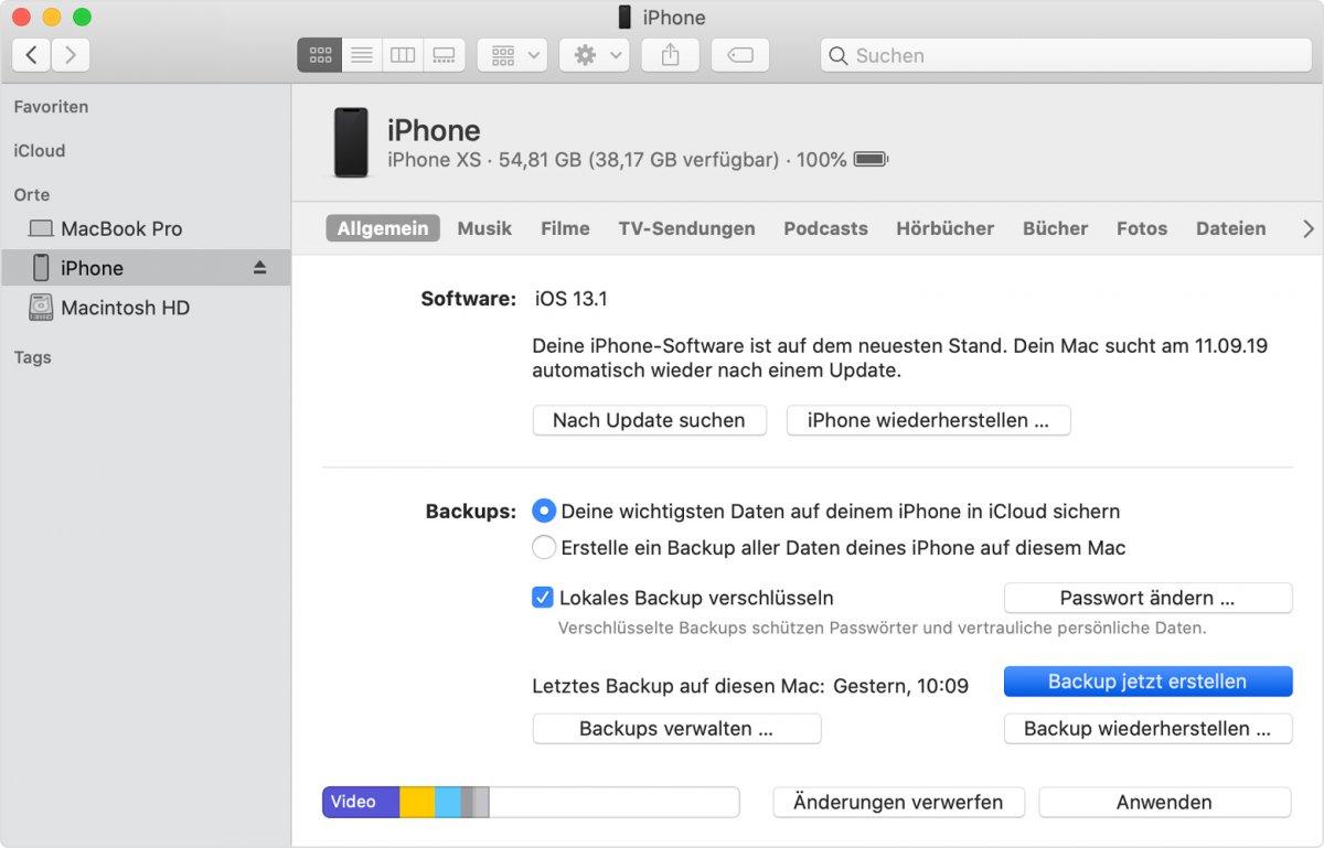 Tipp: Wie Sie iPhone-Backups sicher anfertigen