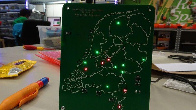 Jubiläums-Platine: Zehn Jahre Hackerspaces in den Niederlanden