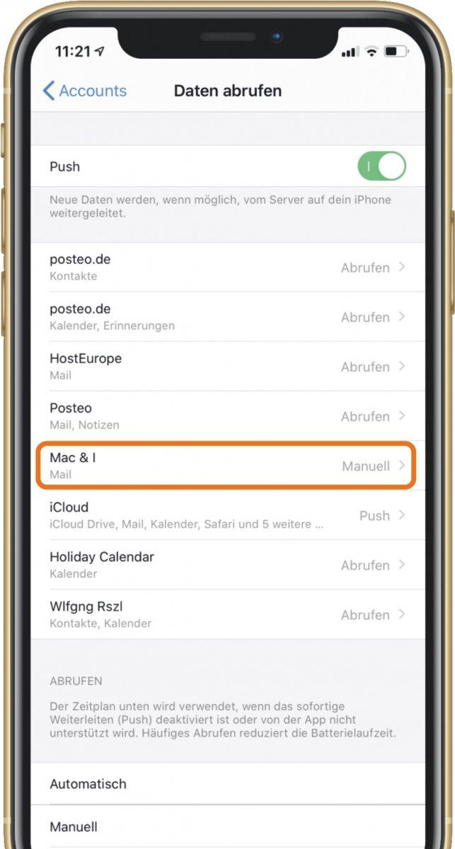 Tipp: Automatischen E-Mail-Abruf auf iPhone einschränken