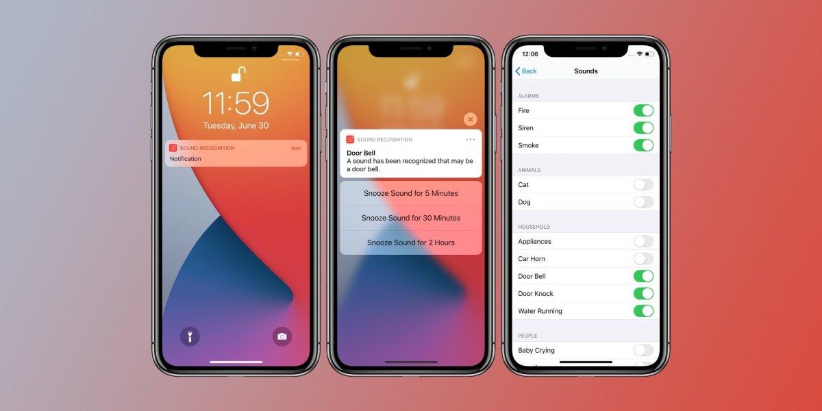iOS 14 erkennt für den Nutzer Geräusche