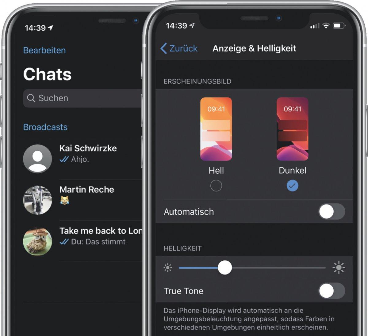 Tipp Dark Mode bei WhatsApp am iPhone aktivieren   heise online