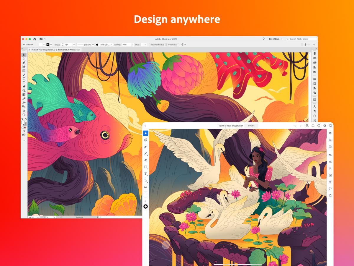 Adobe Illustrator auf dem iPad: intuitiv zeichnen