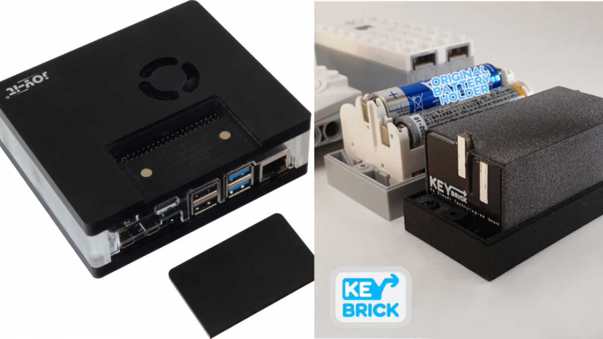 Kickstarter: RasPi 4B Multimedia Case und Lego-Akku Keybrick One