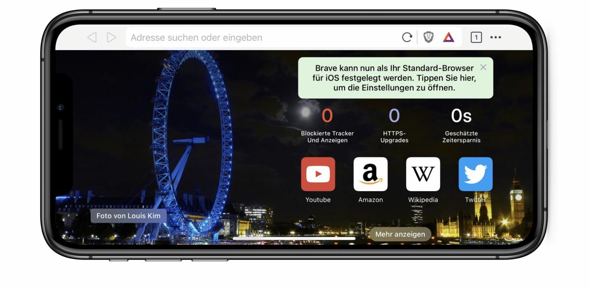Browser Brave: Trinkgeld für Web-Seiten nur erlaubt, wenn Apple mitverdient
