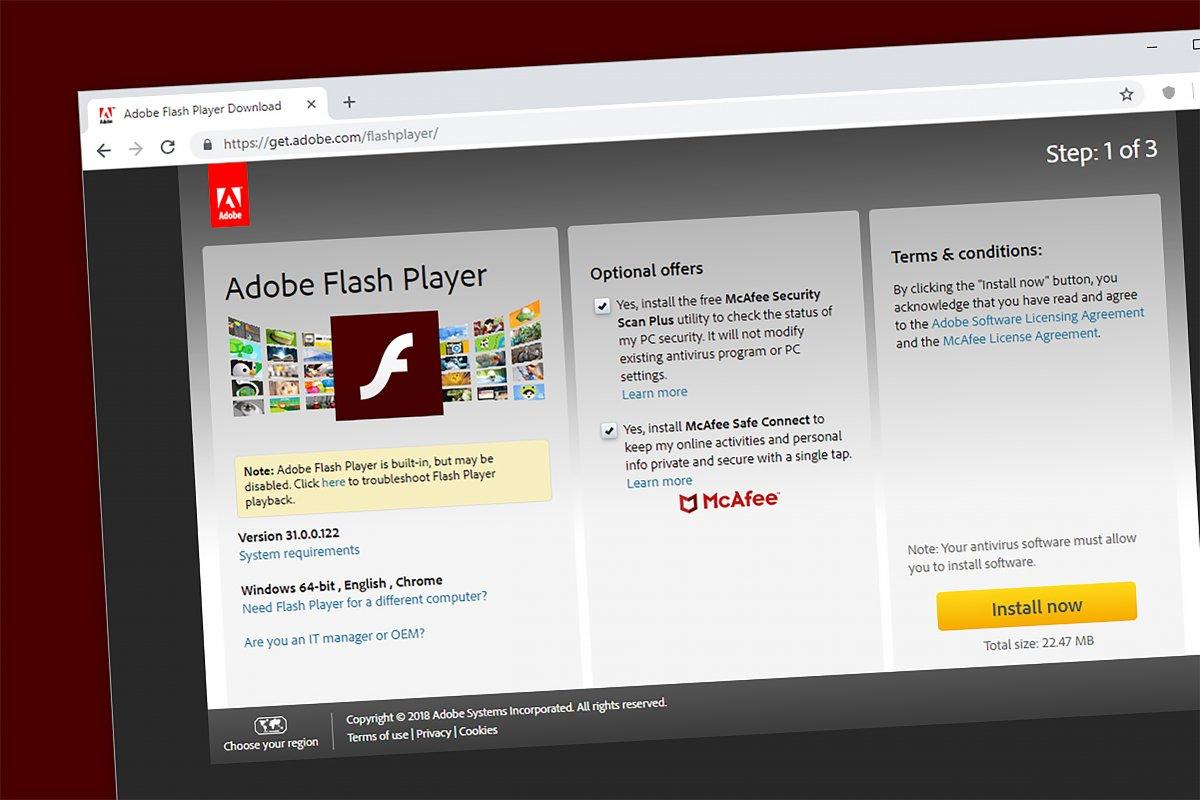 Suche Flash Player