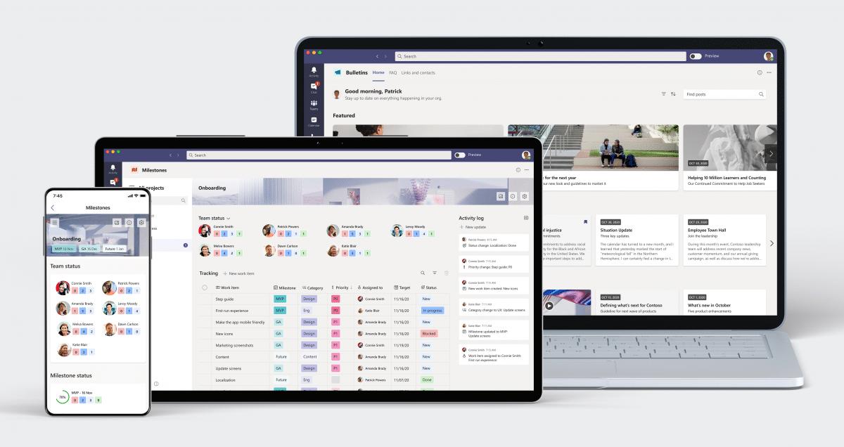 Microsoft führt für Teams zwei neue Apps ein: Bulletins und Milestones - heise online