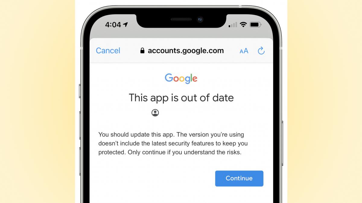 Gmail für iOS so alt, dass Google vor eigener App warnt - heise online