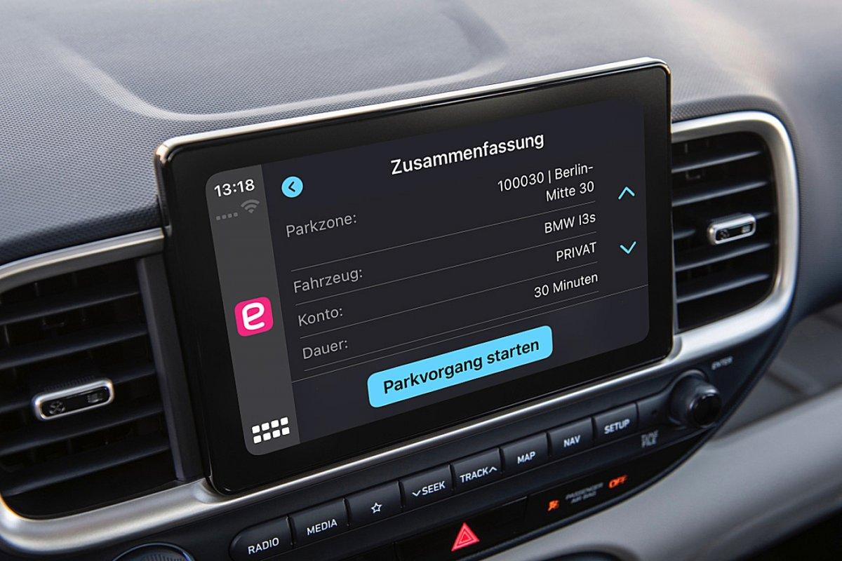 Neue Funktion in Apple CarPlay: Parking-App für Europa erschienen - heise online