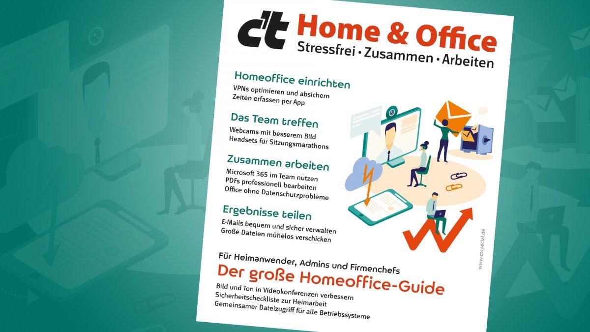 c't-Sonderheft Home & Office ab jetzt im Handel verfügbar