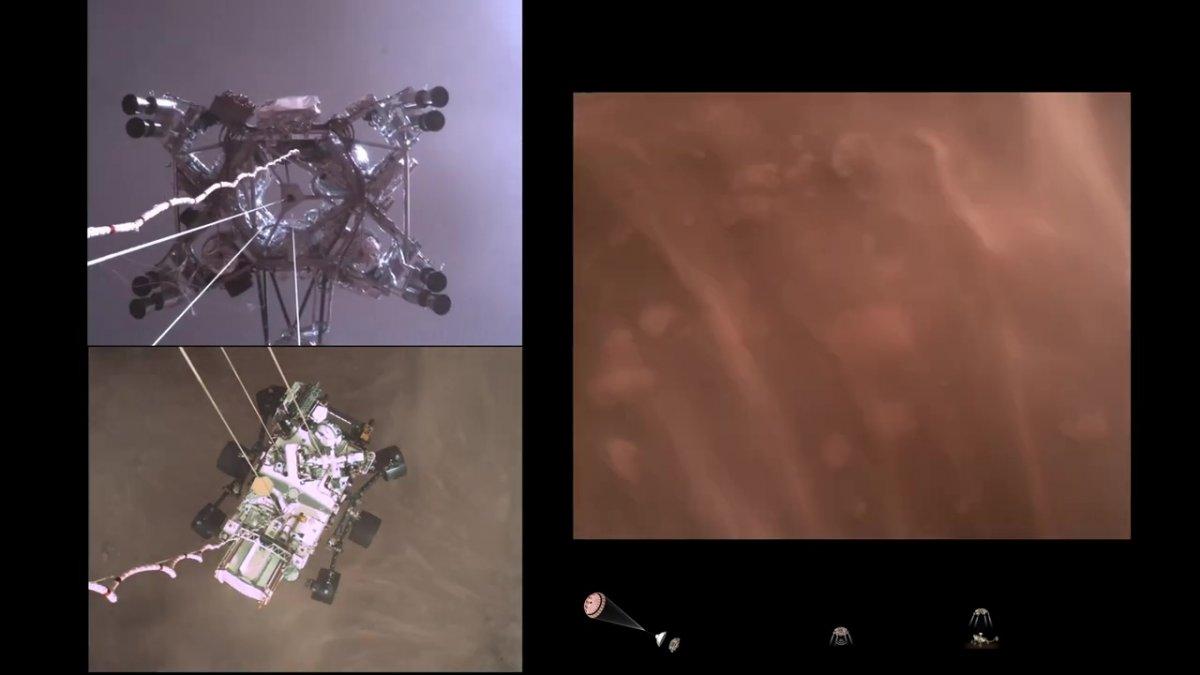 Mars-Rover Perseverance: Beeindruckendes Video der Landung, Fotos und Geräusche