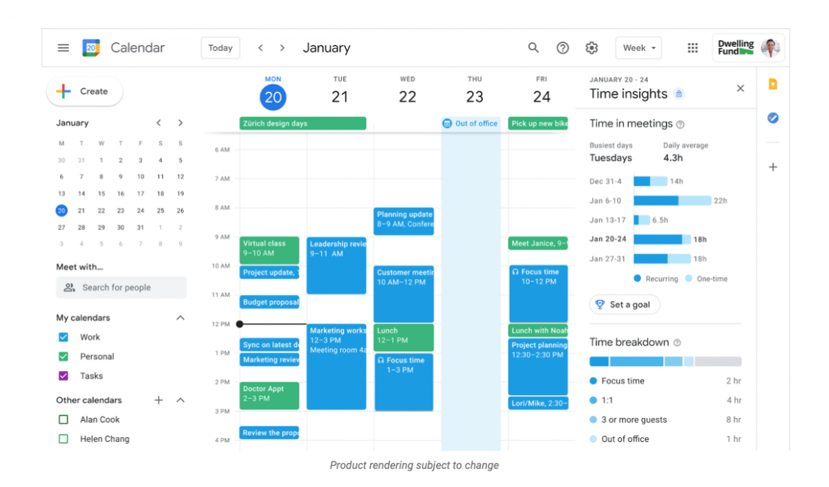 Google Workspace mit Standort, Arbeitszeiten und Frontline-Version - heise online