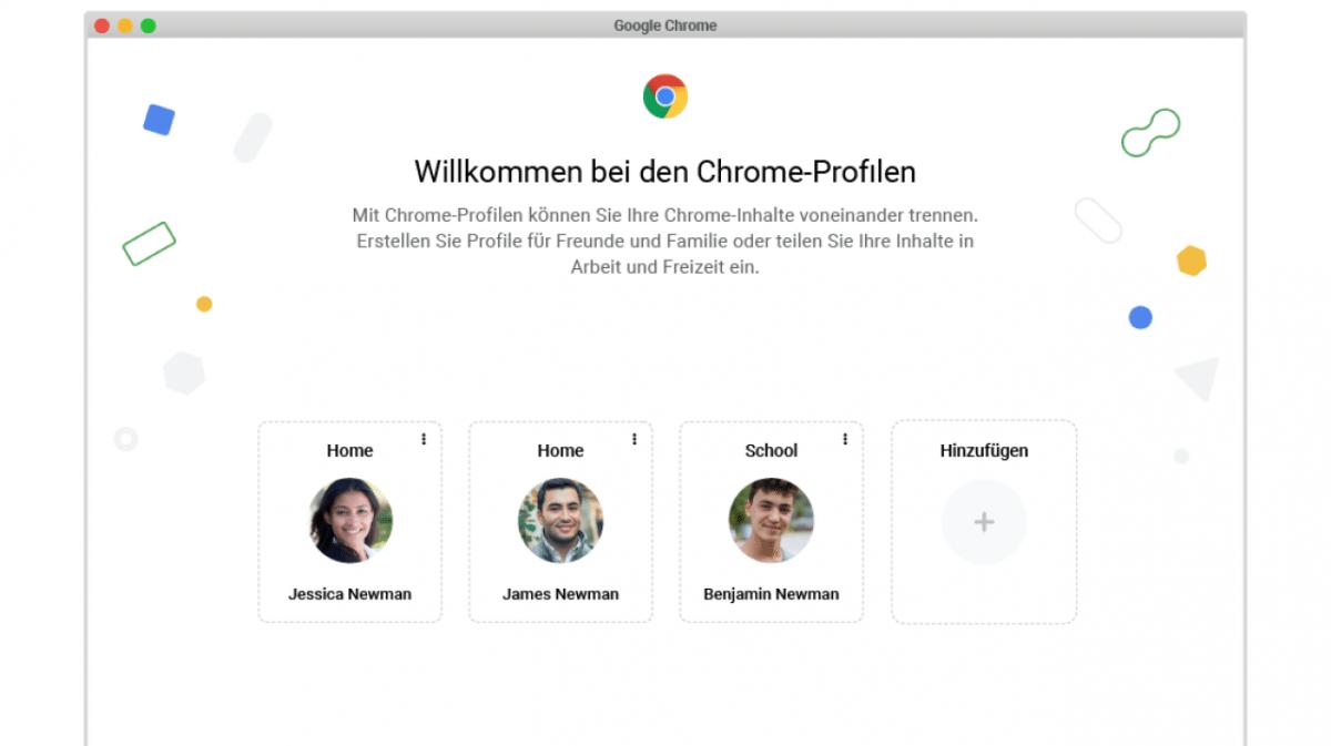 Chrome 89: Profil-Auswahl mit persönlichen Einstellungen - heise online