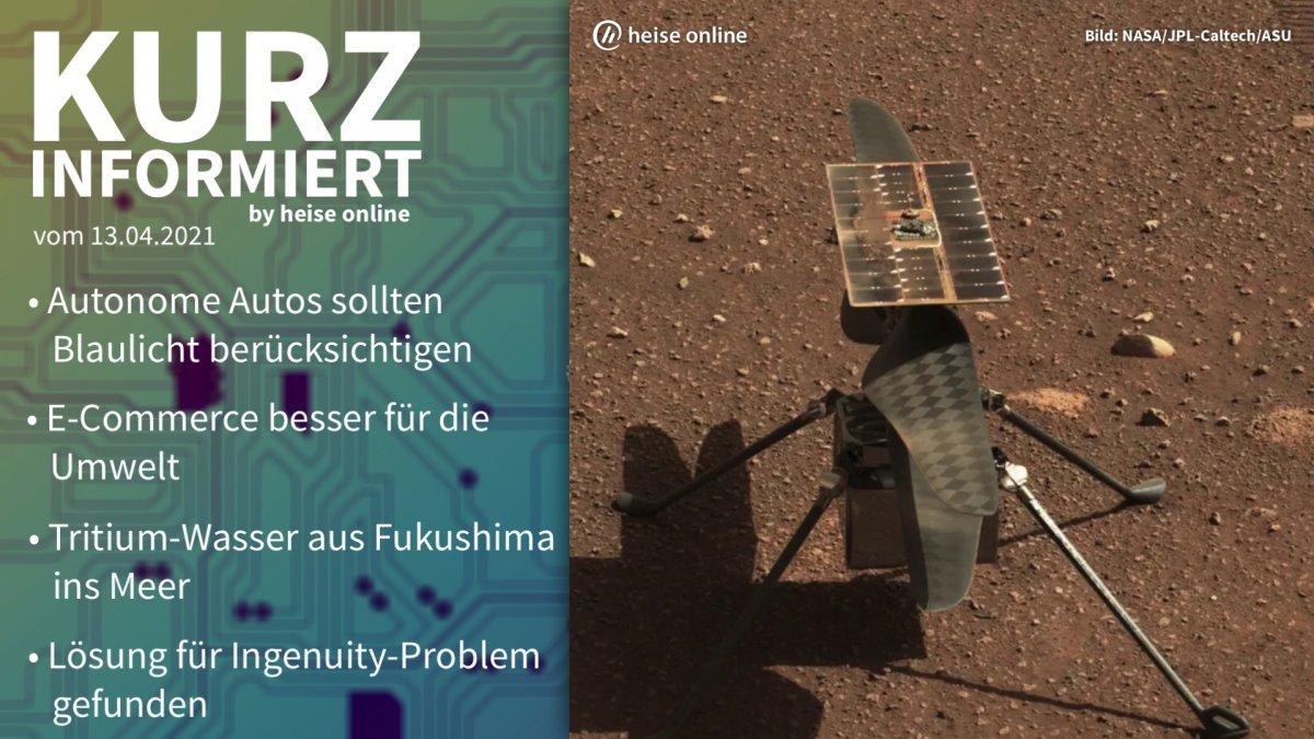 Kurz informiert: Autonome Autos, E-Commerce, Fukushima, Ingenuity