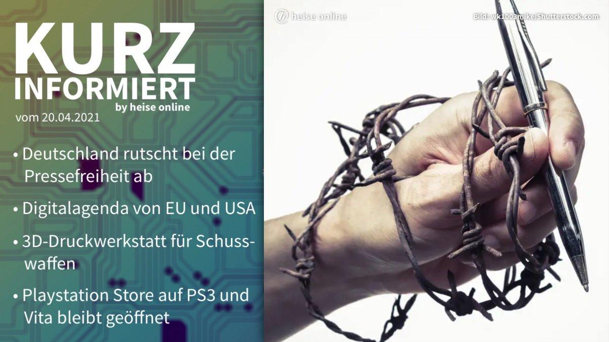 Kurz informiert: Pressefreiheit, Digitalagenda, 3D-Druck-Waffen, PS3