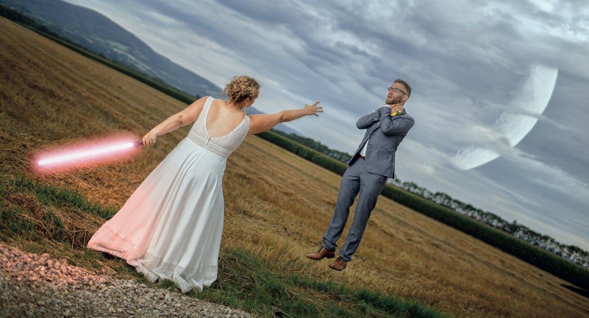 Bildbearbeitung mit Affinity Photo: Hochzeitsfotos im Star-Wars-Look