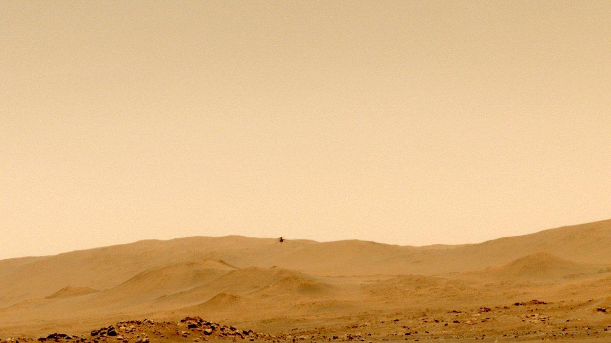 Mars-Hubschrauber Ingenuity: Flug ohne Rückkehr geglückt, Ton aufgenommen