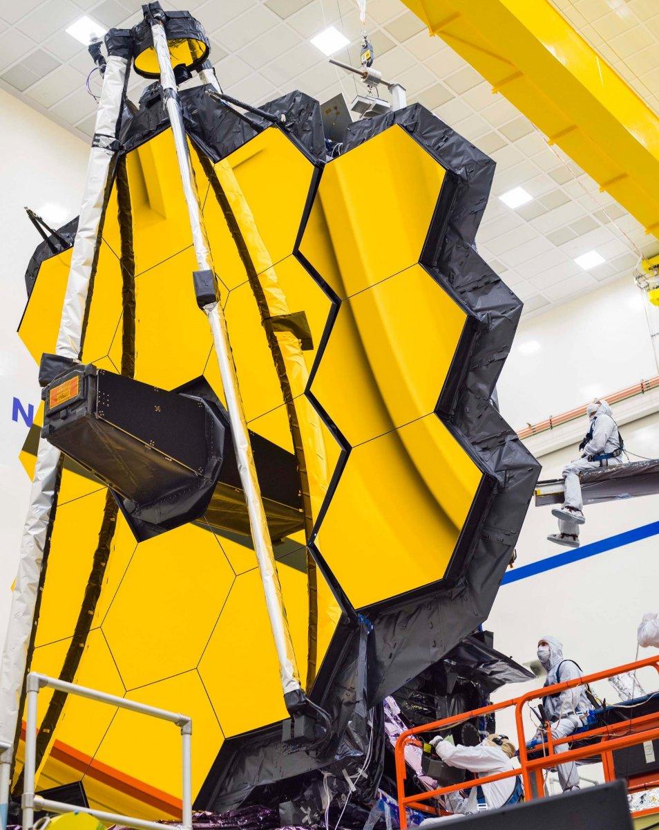 James-Webb-Weltraumteleskop: Letzte Öffnung des Spiegels vor dem Start