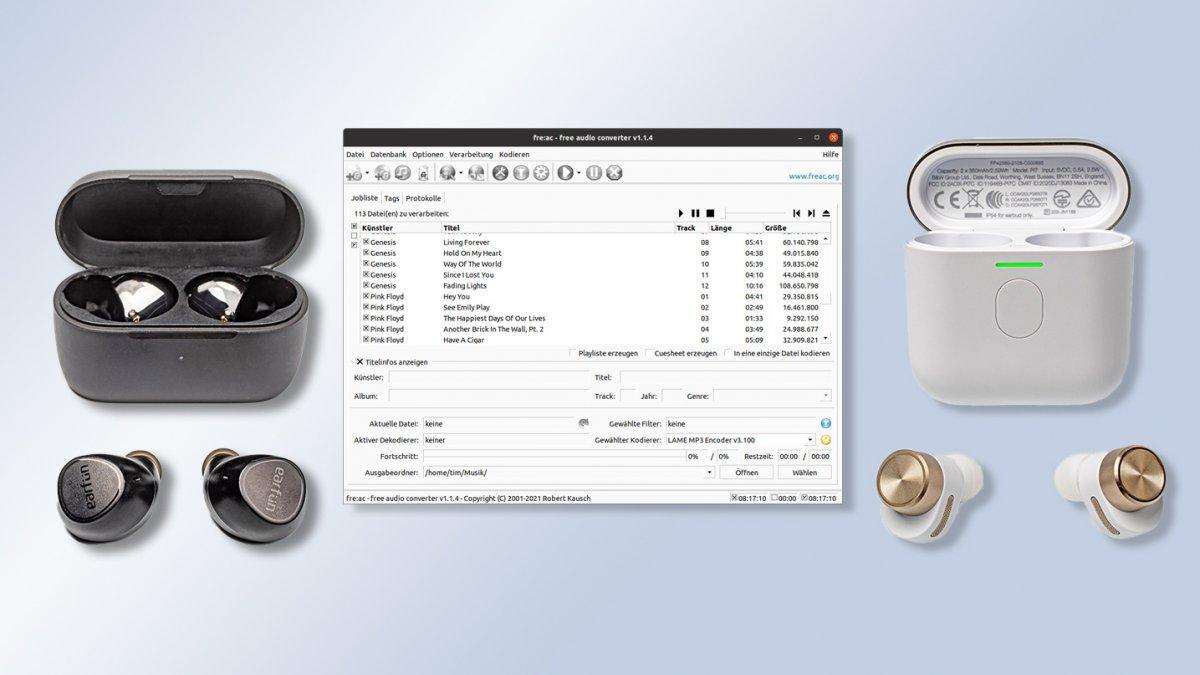 Kurzests: Wasserdichte und basslastige In-Ear-Kopfhörer, Audiokonverter