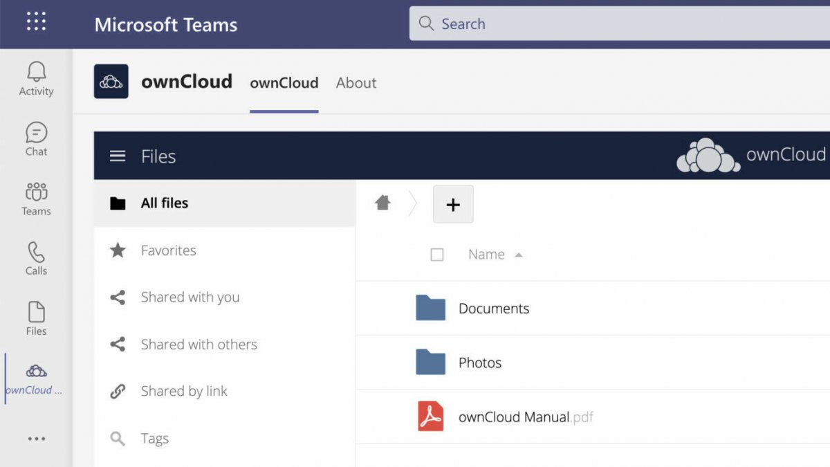 ownCloud integriert sich in MS Teams
