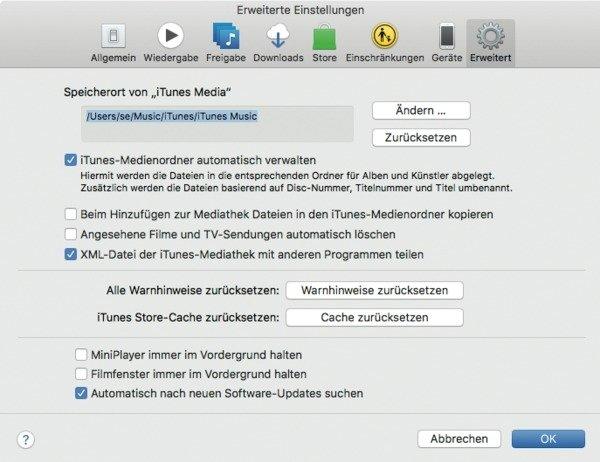 iTunes-Mediathek auf größere Festplatte umziehen | Mac & i