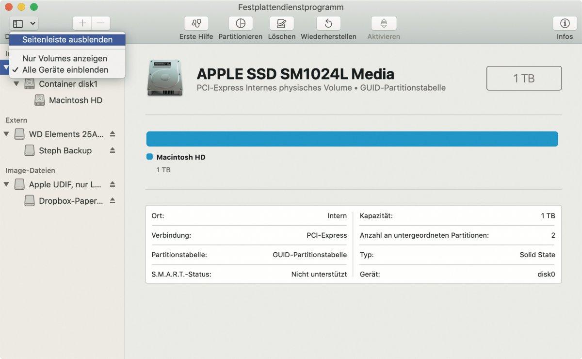 macOS Catalina auf externer SSD installieren
