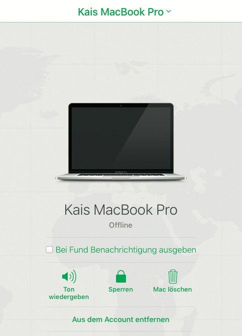 Gebrauchtes MacBook ist gesperrt