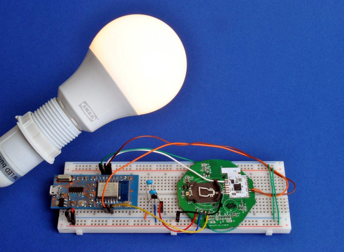 Trådfri: ESP8266-Lampen-Gateway
