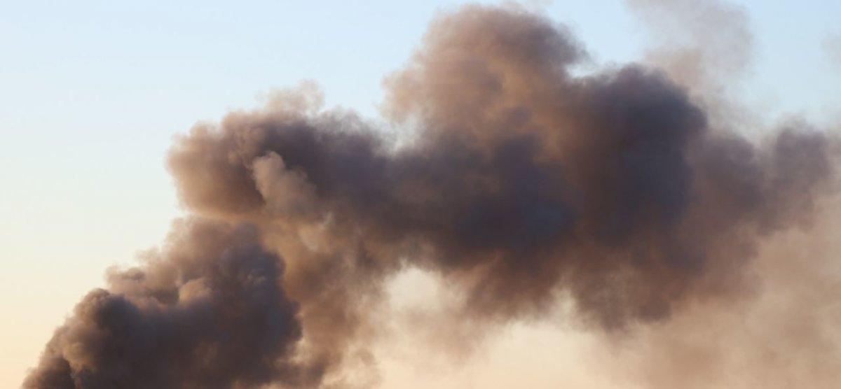 Die Wolke nach dem Brand in der Chemiefabrik