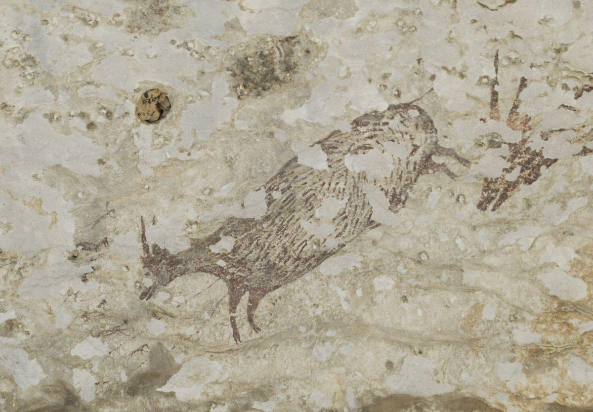 Älteste Jagd-Malerei der Menschheitsgeschichte