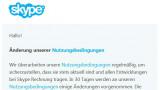 Problematische Klausel in geänderten Skype-Nutzungsbedingungen