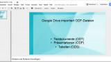 Google Drive importiert ODF-Dateien