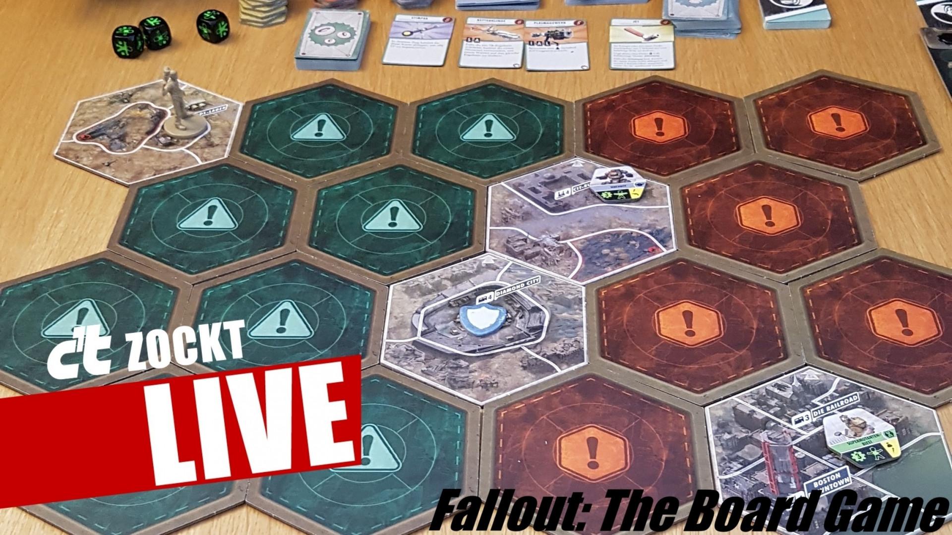 c't zockt LIVE Fallout: The Board Game - Mit Würfeln im Wasteland