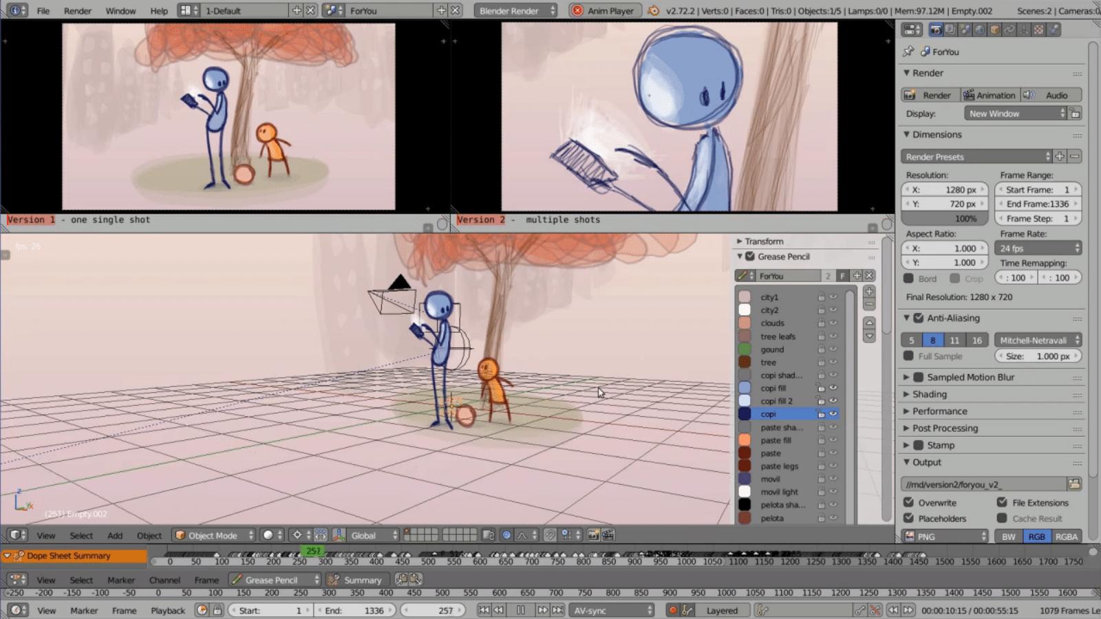 3D-Software Blender 2.73 animiert Handzeichnungen   heise online