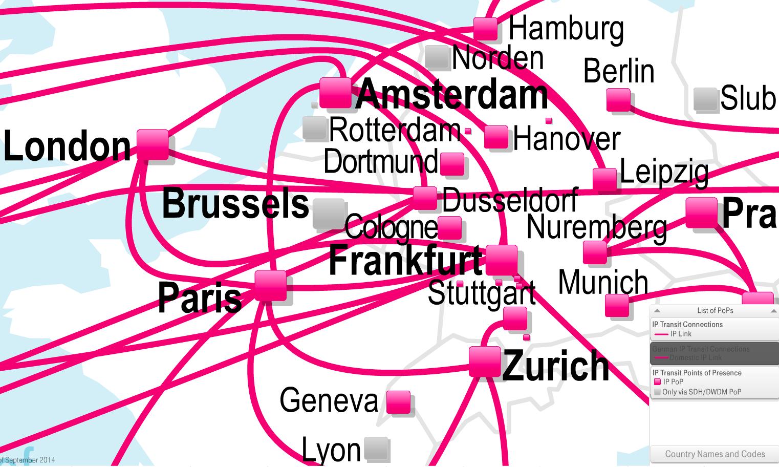 De Cix Präsenz Der Telekom Abhörsicherheit Nur Ein Angenehmer