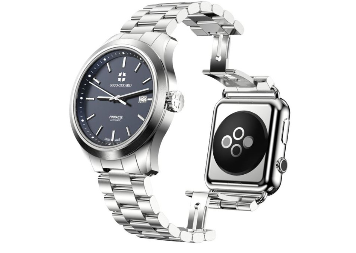 pinnacle luxus uhr vereint apple watch und analoge armbanduhr heise online. Black Bedroom Furniture Sets. Home Design Ideas