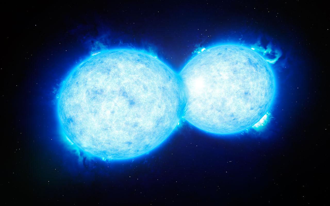 Astronomen beobachten Berührung zweier Sterne