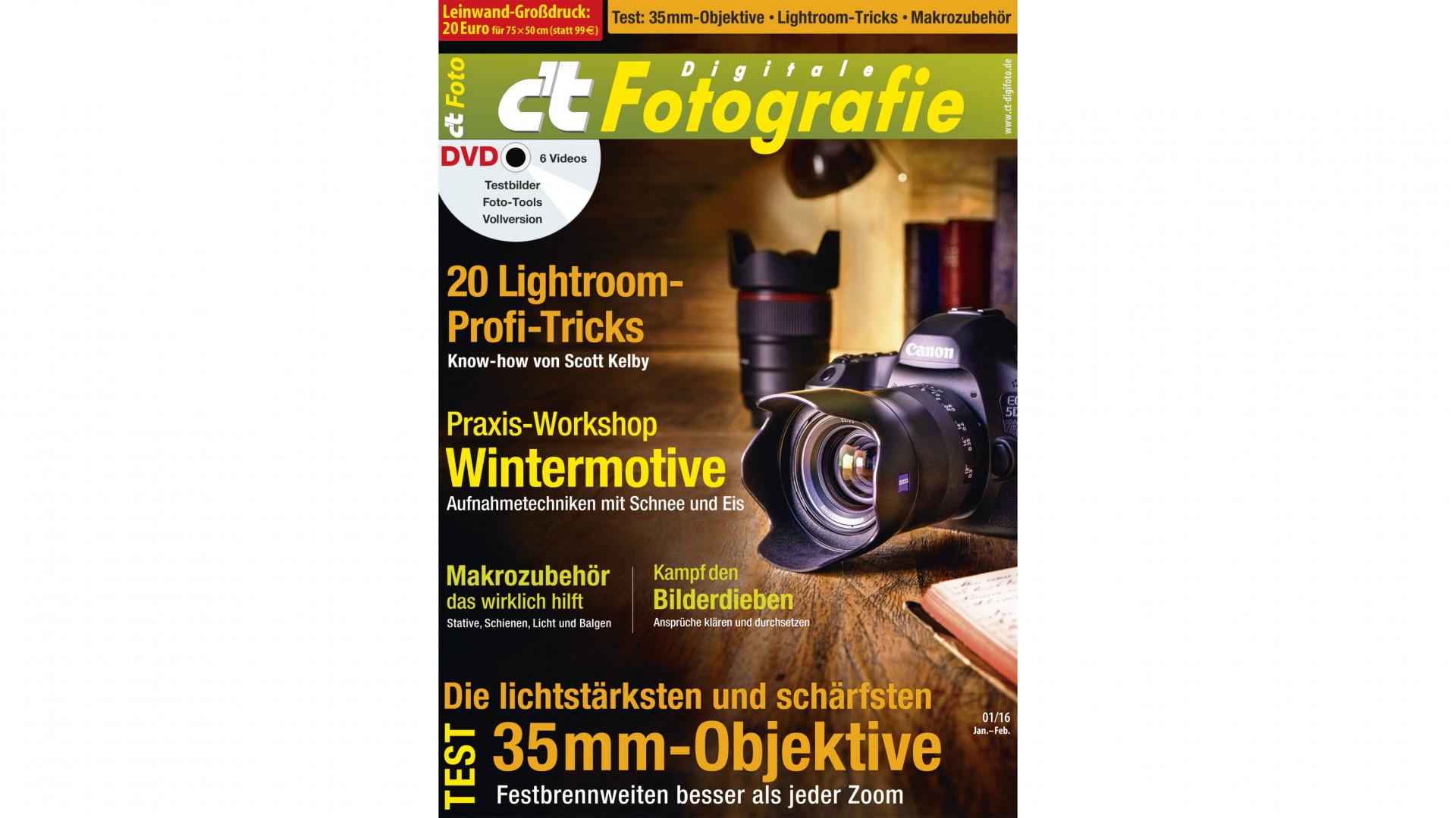 c't Digitale Fotografie: 35-mm-Festbrennweiten für höchste Ansprüche