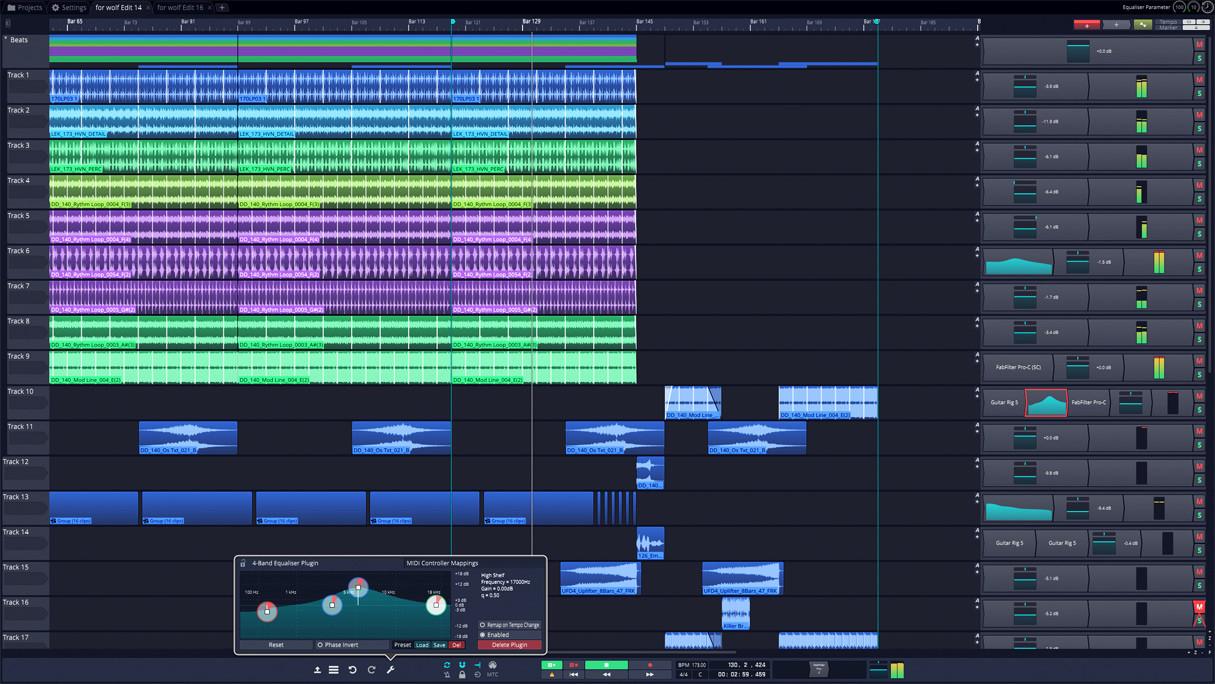 Tracktion 7 vereinfacht die Musikproduktion unter Windows, OS X und Linux
